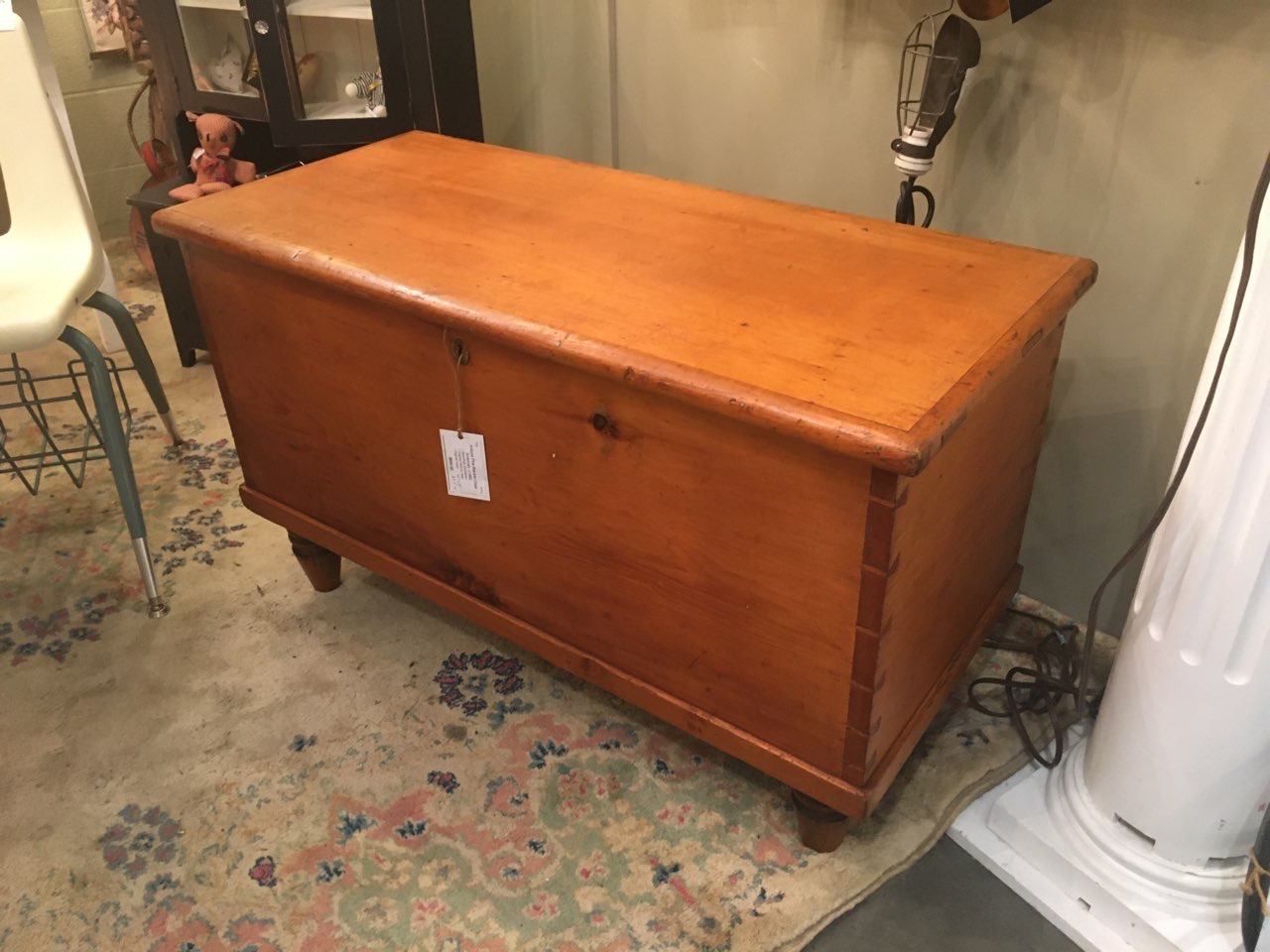 American Pine Blanket Chest W Beautiful Joinery C1860 Gaslamp Antiques